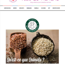 Quinola mothergrain dans un article du blog Plus de Mamans
