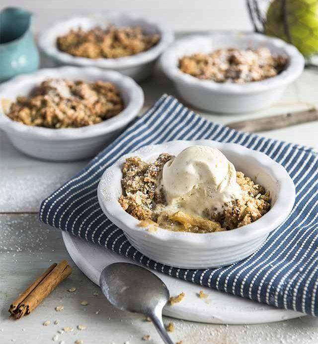 Un délicieux crumble aux pommes et au quinoa !