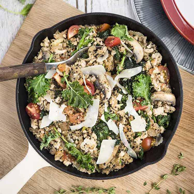 Miniature de la recette de one pan quinoa chou kale