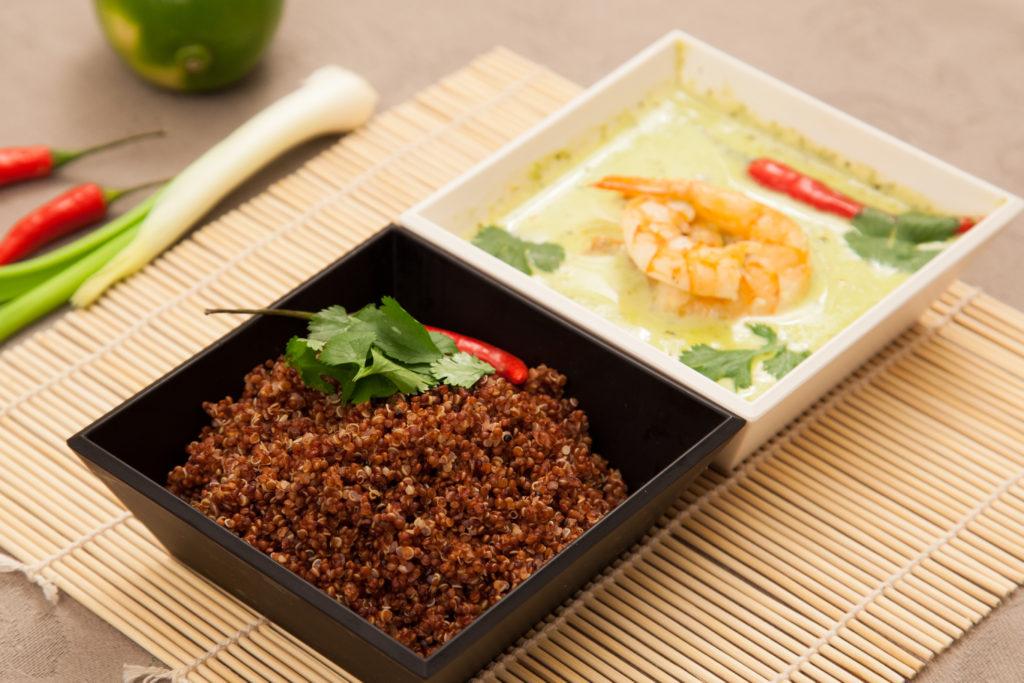 Prawn Green Thai Curry with Quinola