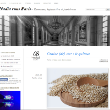 Parution sur le Site Nadia runs Paris, 2015