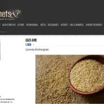 Parution sur le site Gourmet & co, Août 2016