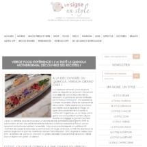 Parution sur le Site Un signe un style, Mars 2016