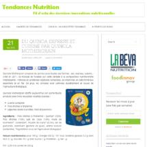 Parution sur le Site Tendances Nutrition, Septembre 2016