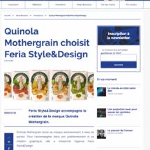 Quinola Mothergrain choisit Feria Style Design L'ADN